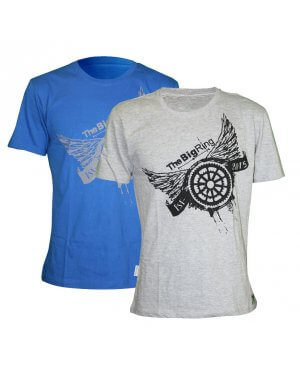 The Big Ring Mens T-Shirt Wings (BR1009)
