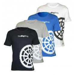 The Big Ring – The Big Ring Cycling T-Shirt (#BR1011) Blue, Black, White or Grey